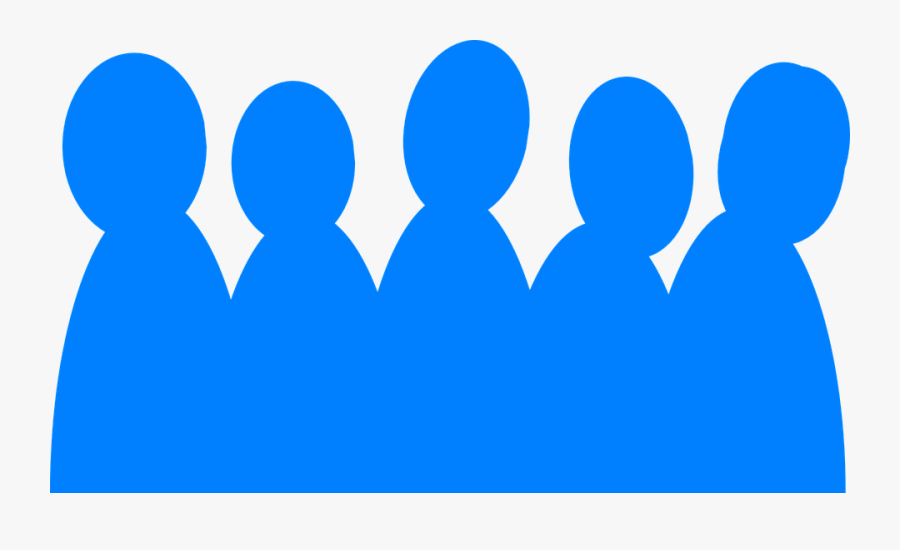 People, Audience, Group, Crowd, Silhouette, Blue - Blue Clip Art People, Transparent Clipart