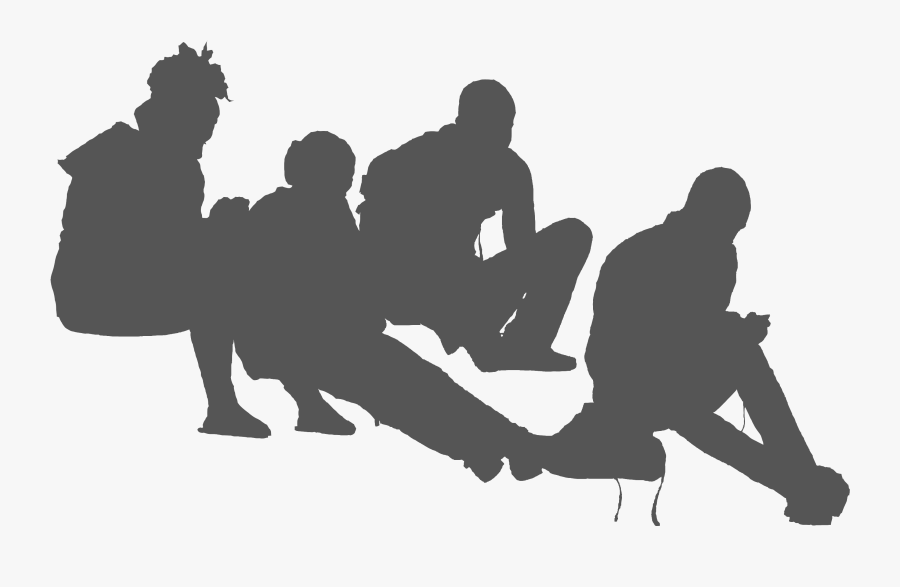 Students Sitting Group Of People Sitting Png - Group Of People Sitting Silhouette Png, Transparent Clipart