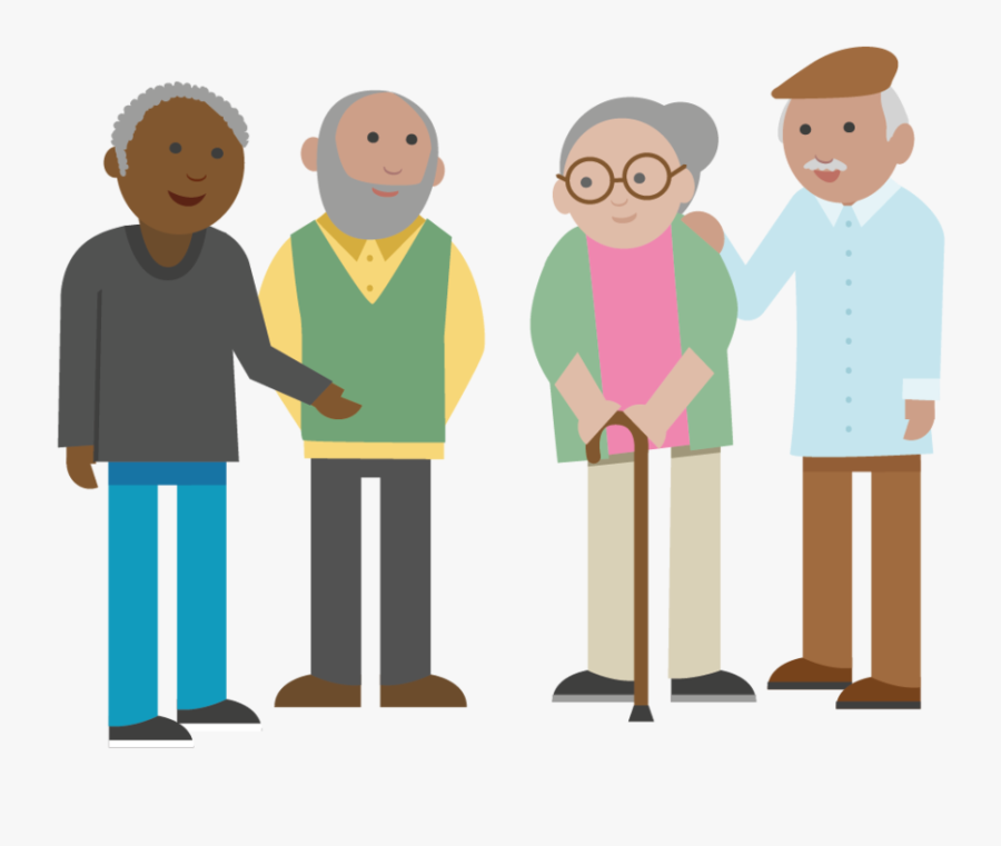Transparent Older Adults Clipart - Old People Clipart Png, Transparent Clipart