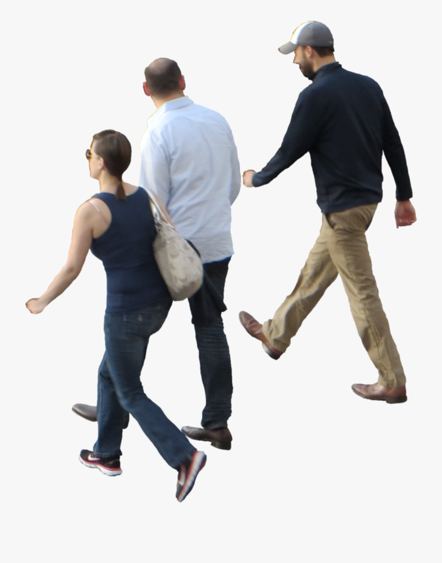 Transparent Crowd Of People Clipart - People Walking Top View, Transparent Clipart