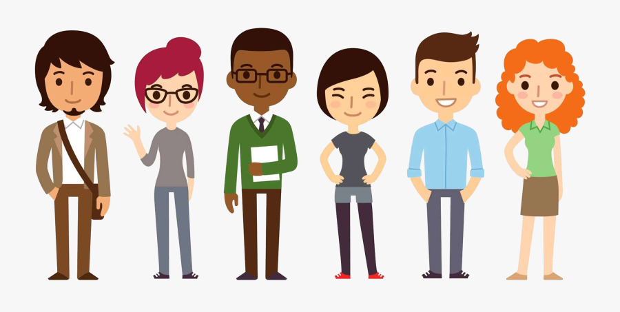 Cartoon Group Of People Png , Png Download - Group Of People Cartoon Png, Transparent Clipart
