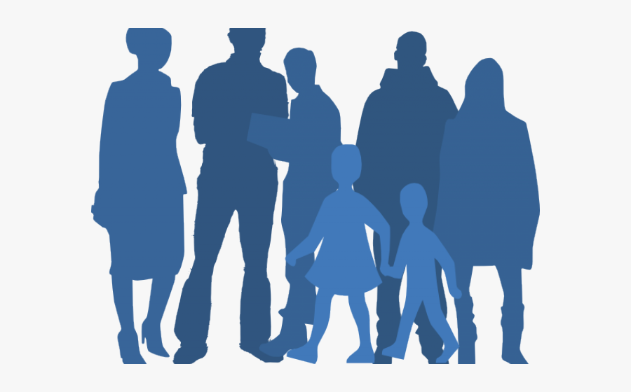 Transparent Group Of People Waving Goodbye Clipart - Free Clipart Of People Silhouette, Transparent Clipart