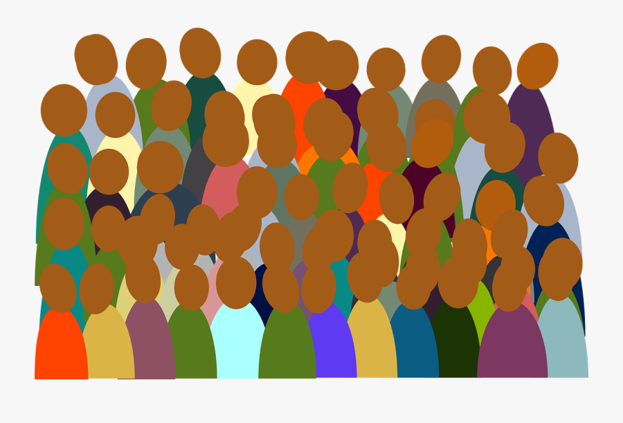People Group Crowd Colorful Audience Crowd - Crowd Clip Art, Transparent Clipart