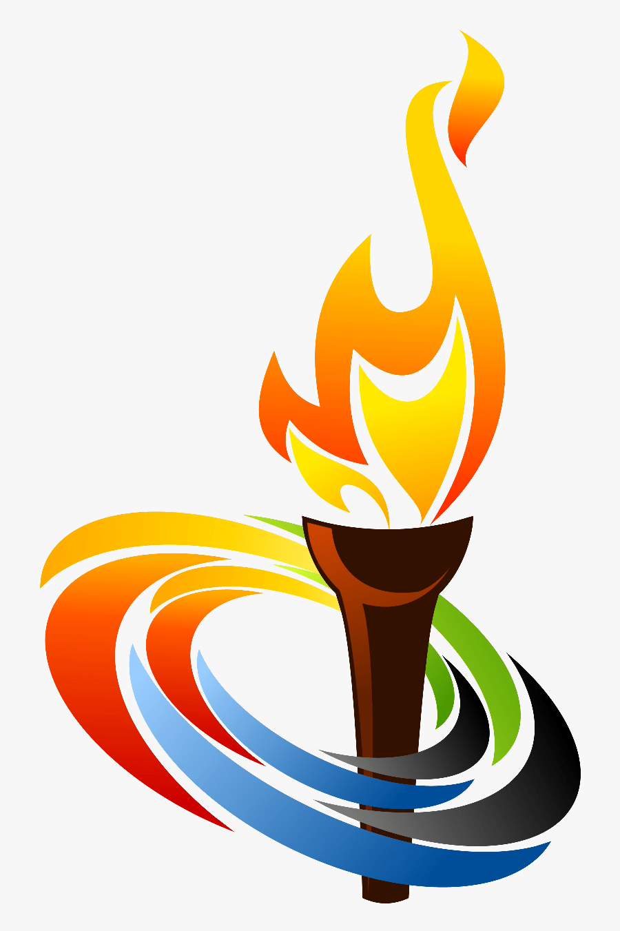 Pics For Torch Flame Png Clip - Clip Art Olympic Torch, Transparent Clipart