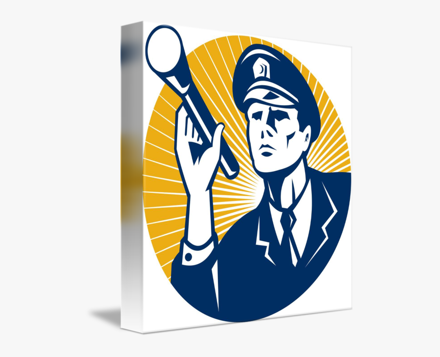 Policeman Security Guard With - Security, Transparent Clipart