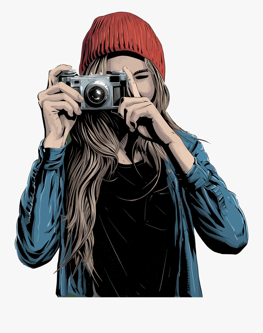 Human - Girl Taking Picture Png, Transparent Clipart