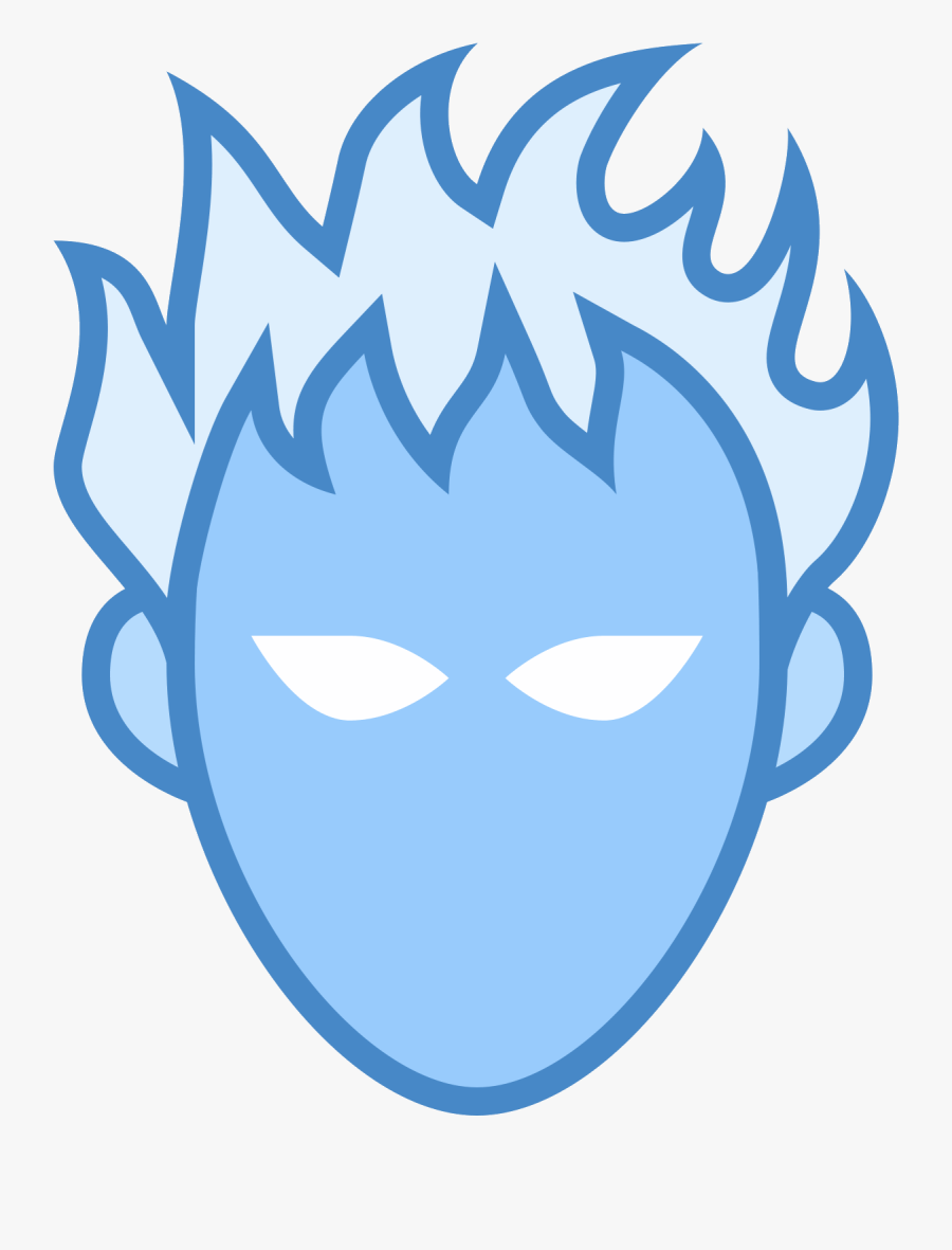 Human Torch Icon, Transparent Clipart