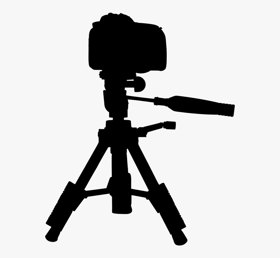Silhouette,monochrome Photography,photography - Camera On Tripod Clipart, Transparent Clipart