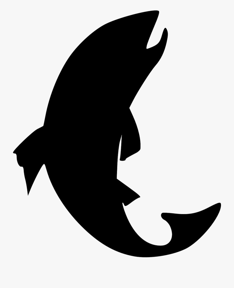 Fish Silhouette Clip Art - Fish Silhouette Clipart, Transparent Clipart