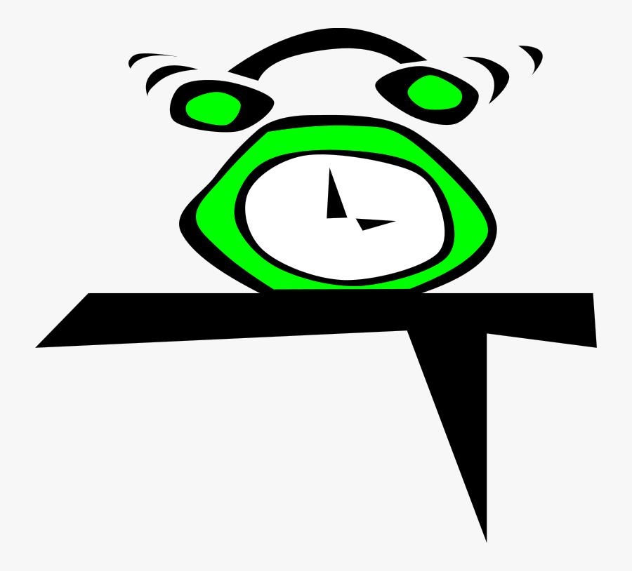 Simple Green Alarm Clock Svg Clip Arts - Alarm Clock Clip Art, Transparent Clipart