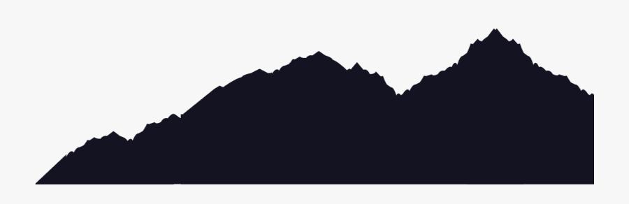 Clip Art Silhouette Mountain - Mountain Range Silhouette Png, Transparent Clipart