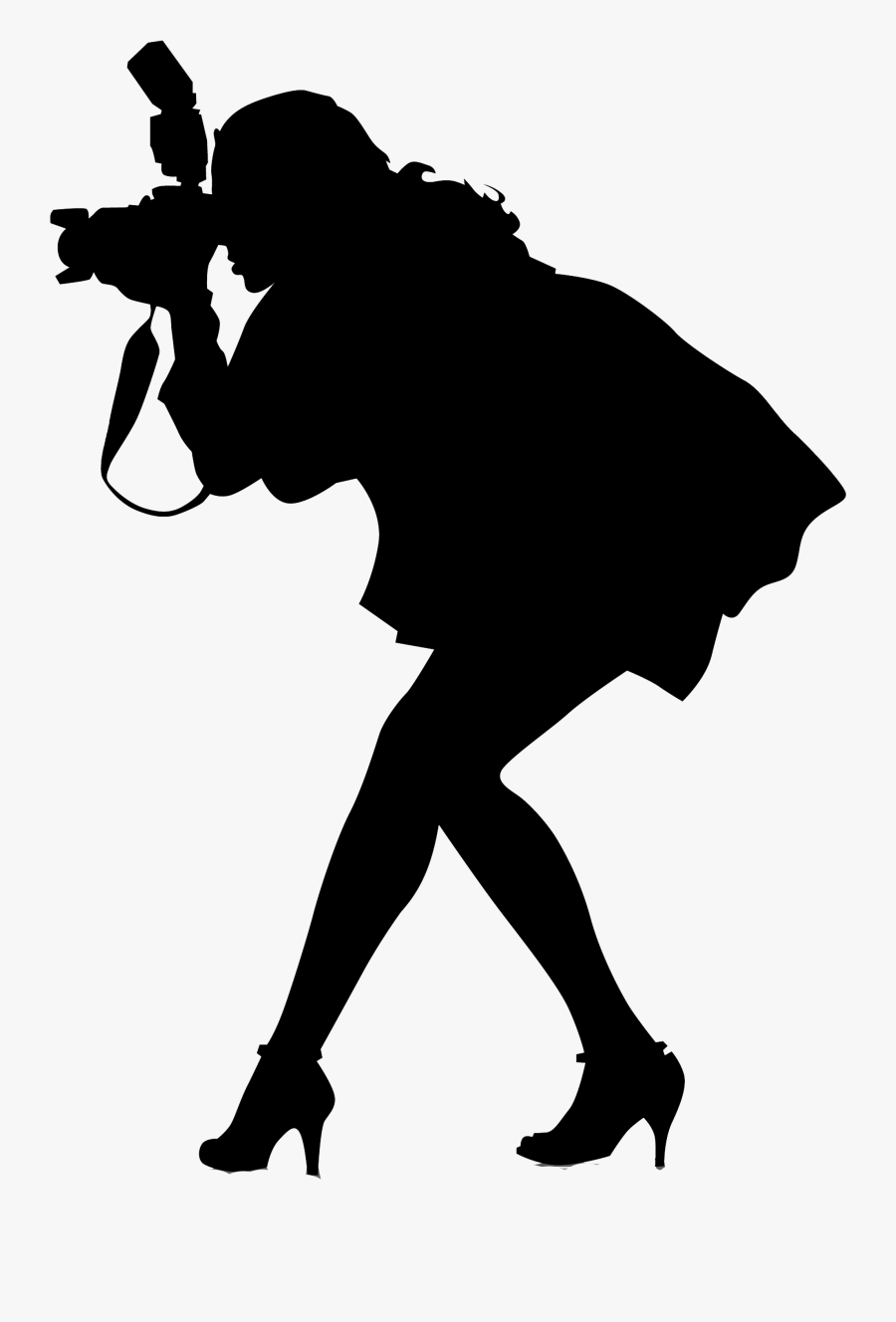 Collection Of Professional - Female Photographer Silhouette, Transparent Clipart