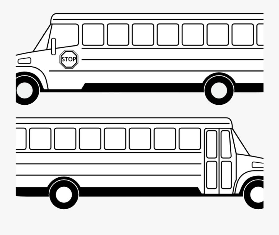 Transparent Bus Clip Art - School Bus Clipart Outline, Transparent Clipart