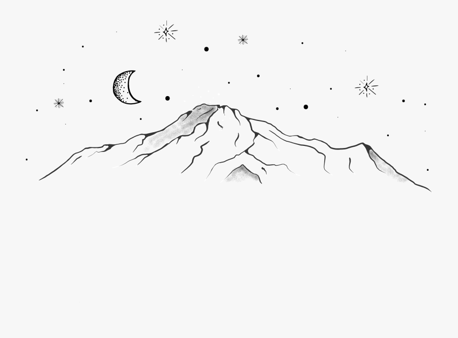 Clip Art Drawing Mountains - Sketch, Transparent Clipart