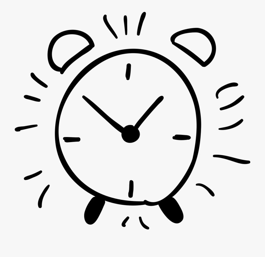 Drawn Clock Hand Png - Alarm Clock Hand Drawn, Transparent Clipart
