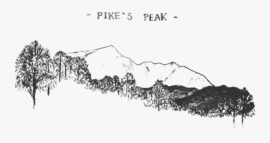 Transparent Mountain Peaks Clipart - Pikes Peak Png, Transparent Clipart