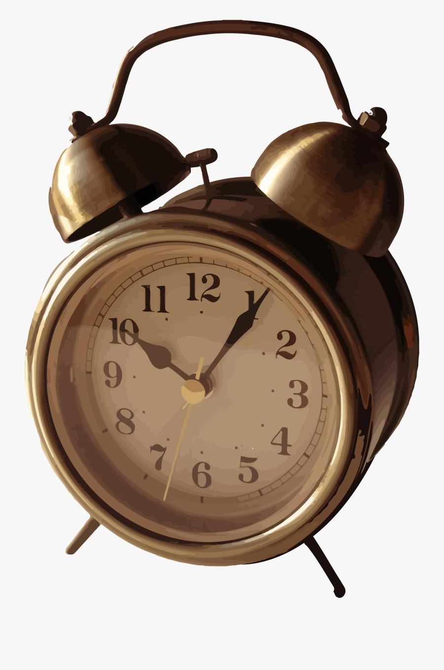Original Alarm Clock, Transparent Clipart