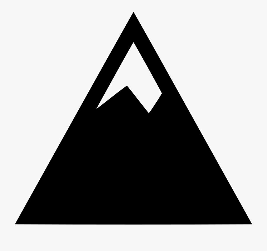 Mountain Summit Clip Art - Symbol Of Mountain Peak, Transparent Clipart