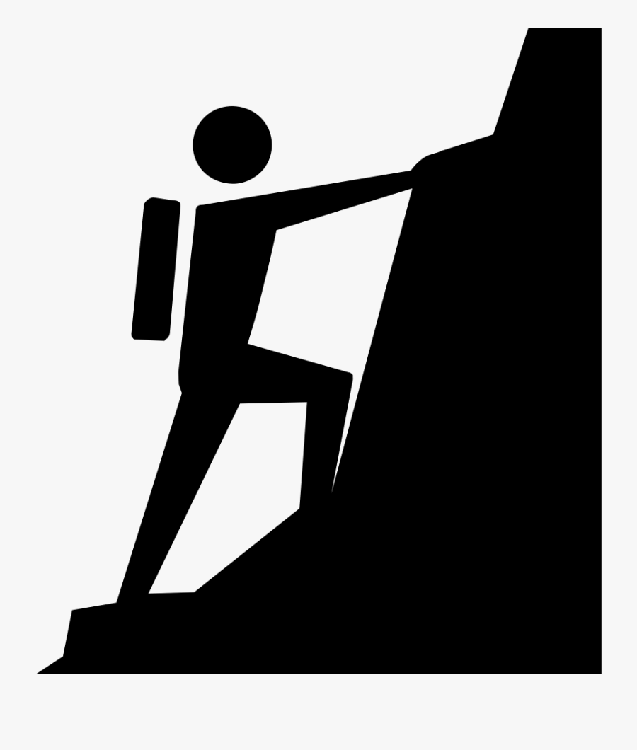 Transparent Climb Clipart - Climbing A Mountain Clipart, Transparent Clipart