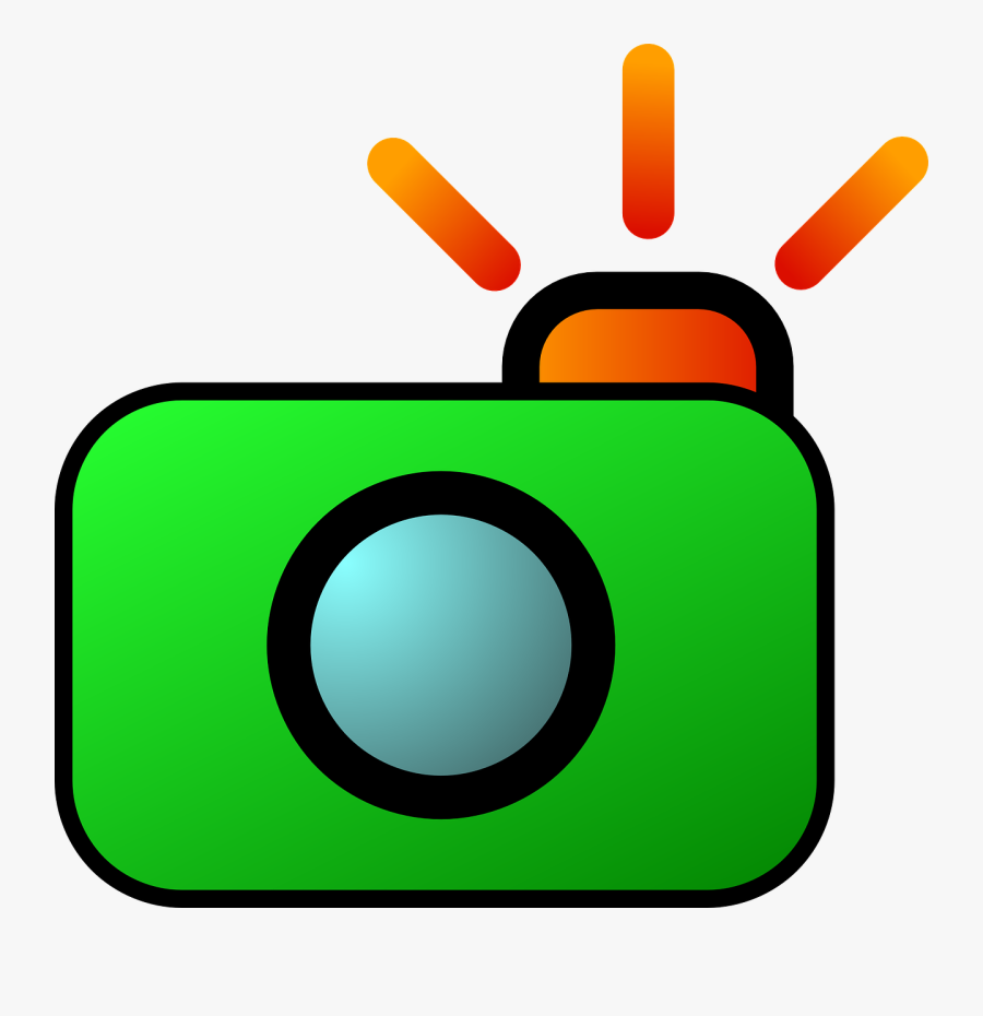 Digital Camera Photography - Camera Clipart Animated, Transparent Clipart