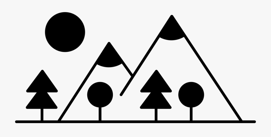 With Trees Made Up - Trees Made Of Shapes, Transparent Clipart