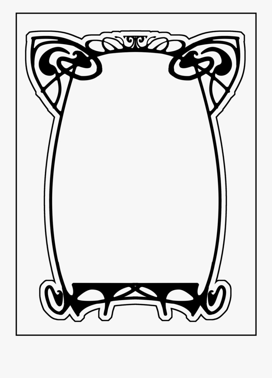 Transparent Art Nouveau Border Png - Art Deco Frame Clip Art, Transparent Clipart