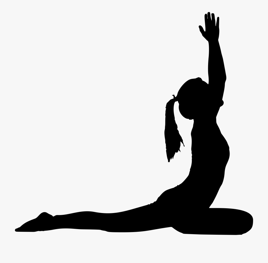 Female Yoga Pose Silhouette - Yoga Pose Silhouette Png, Transparent Clipart