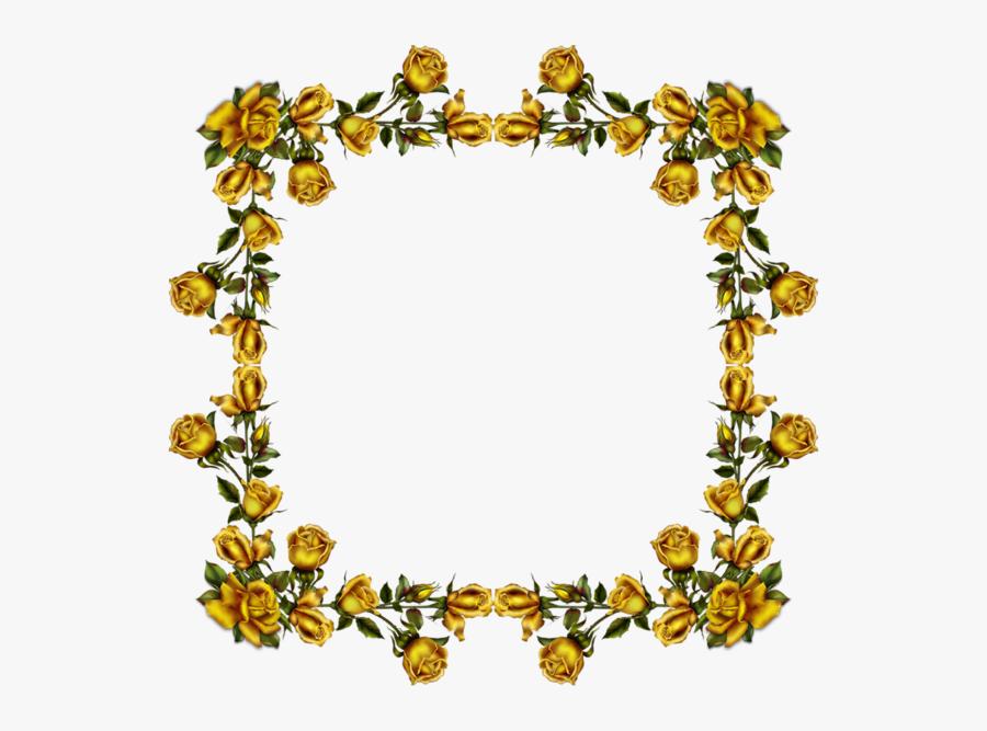 Transparent Golden Flower Png - Corner Golden Flower Png, Transparent Clipart