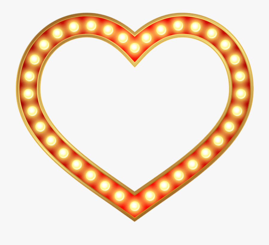 Free Png Download Glowing Heart Border Frame Clipart - Dads Stache Free Printable, Transparent Clipart