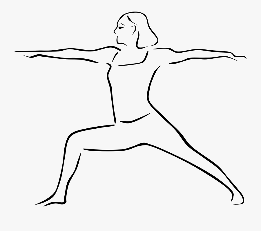 Warrior Ii Pose Drawing Of Yoga Poses Free Transparent Clipart Clipartkey