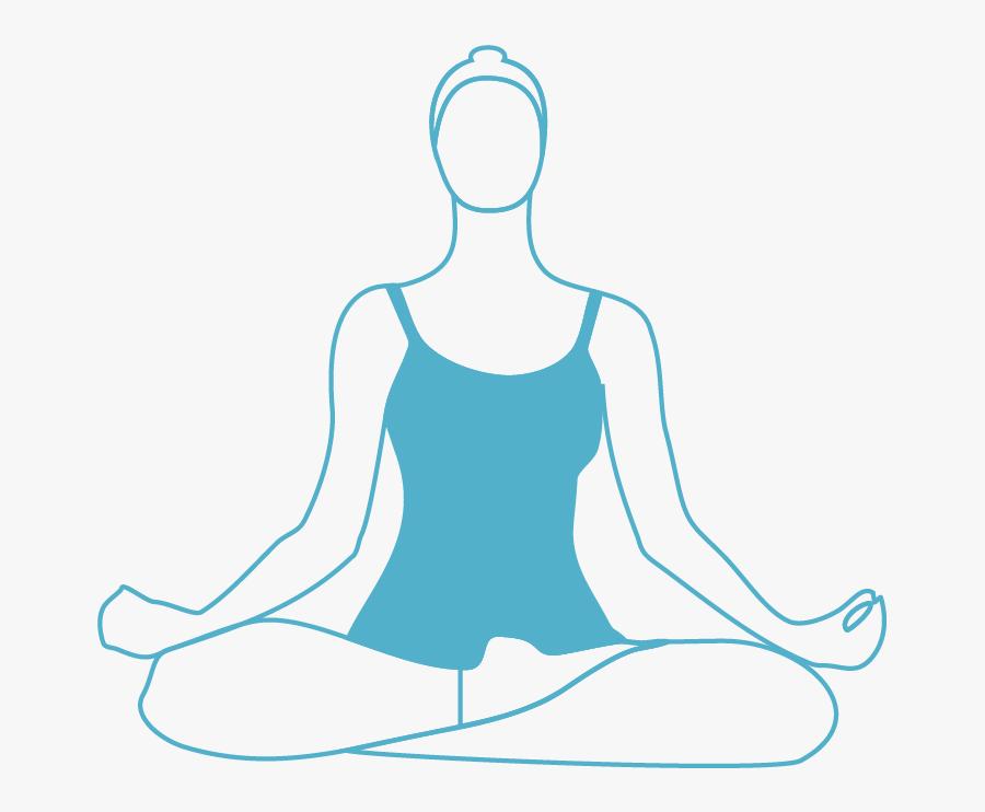 Transparent Yoga Clipart Black And White - Prenatal Yoga Art Png, Transparent Clipart