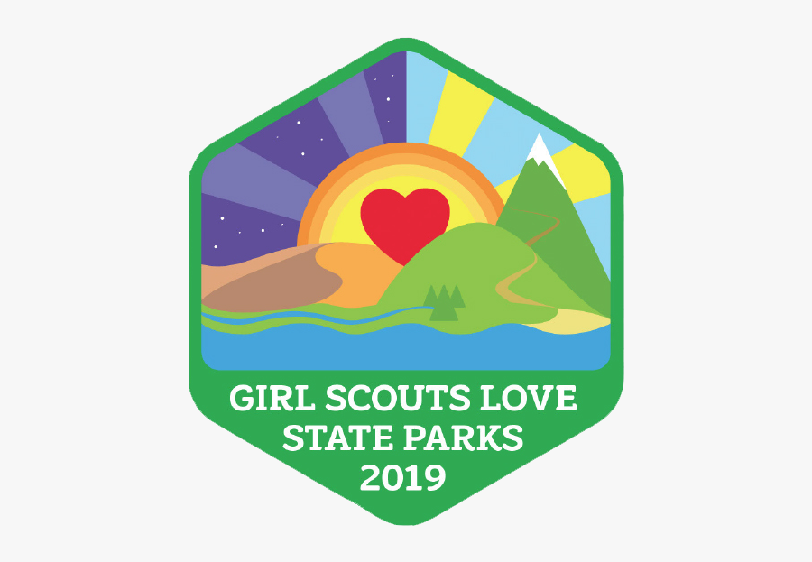 Girl Scouts Love State Parks, Transparent Clipart