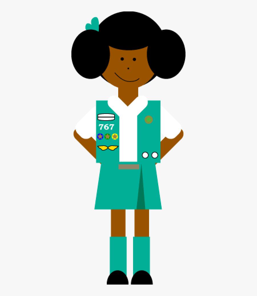 Girl Scouts Art Clips, Transparent Clipart