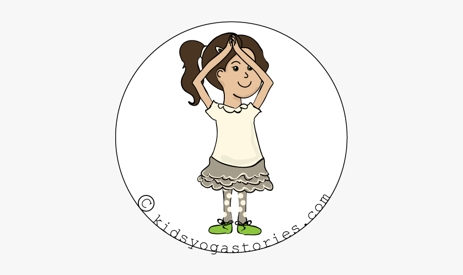 Beach Yoga Poses For Kids - Cartoon Pic On Kids Showing Mountain Gesture, Transparent Clipart