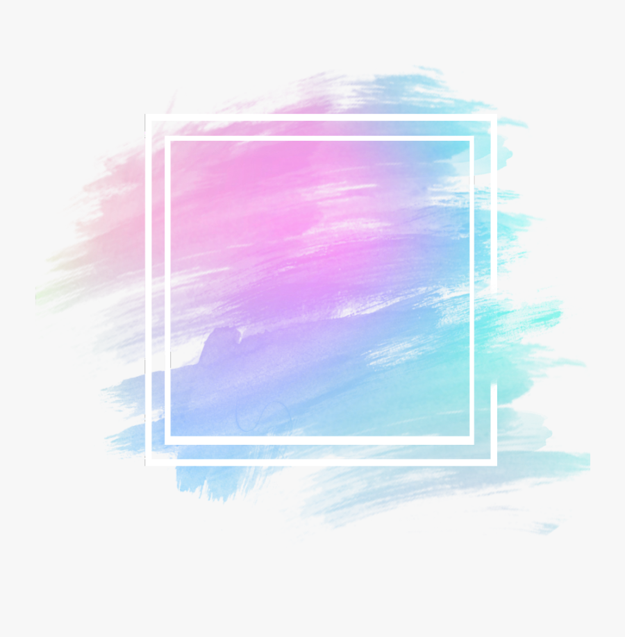 #freetoedit #frame #clipart #decoration #decorate #watercolor - Blue Picture Frame Aesthetic, Transparent Clipart