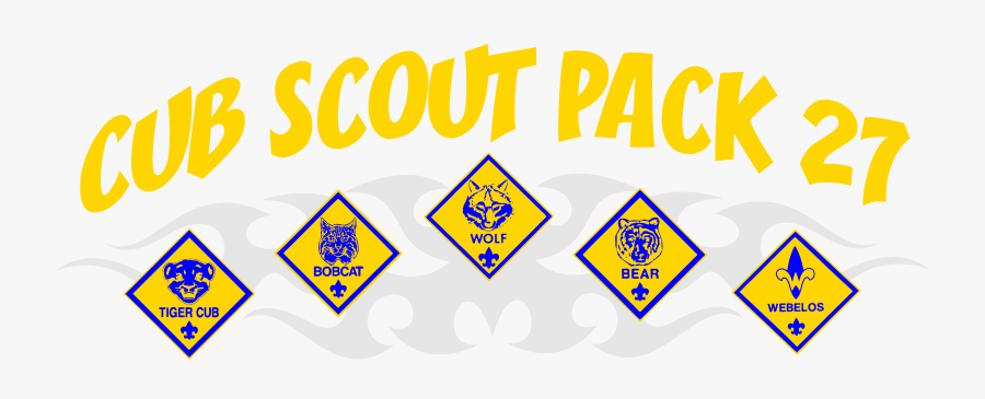 Cub Scouts Pack 27, Transparent Clipart