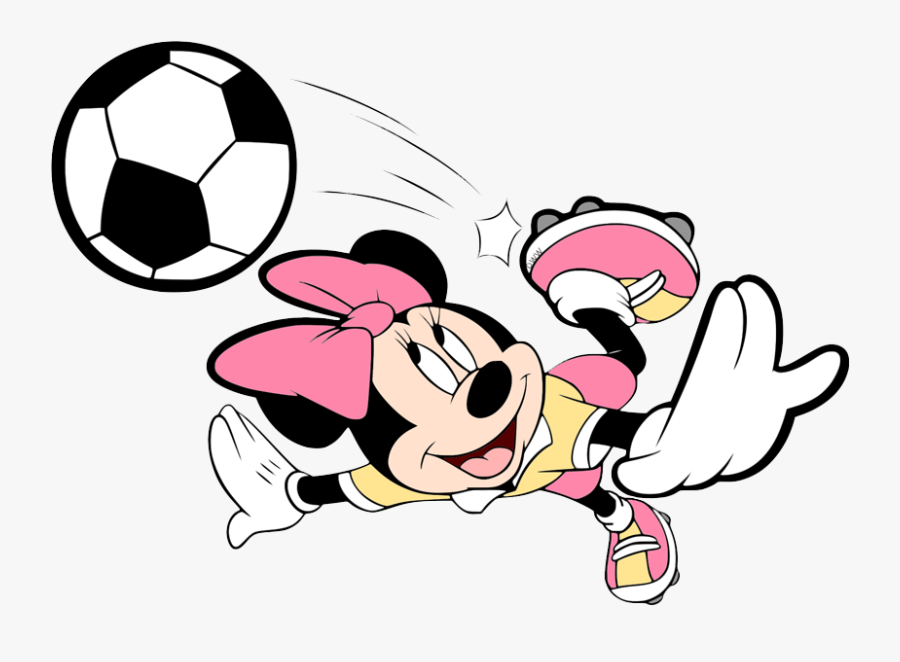 Mickey And Minnie Mouse Soccer, Transparent Clipart