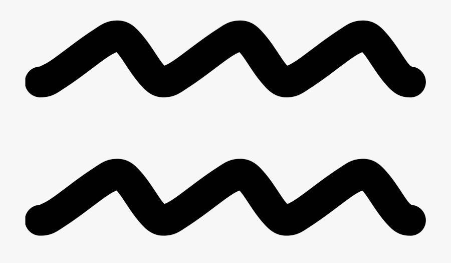 Line - Aquarius Symbol Transparent Background, Transparent Clipart