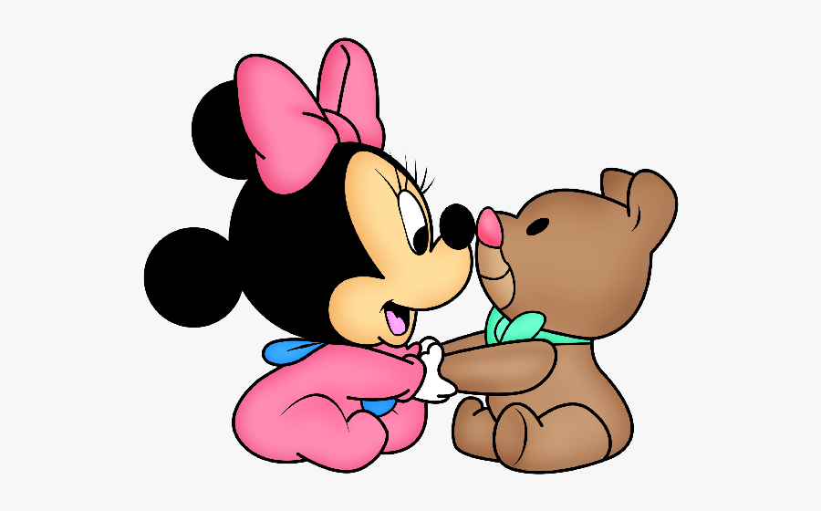 Disney Baby Minnie Mouse Cartoon Png Clip Art Images - Disney Minnie Mouse Bebe, Transparent Clipart