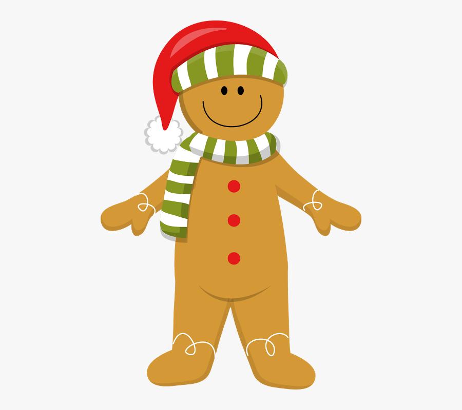 Gingerbread Clipart Christmas Man - Clip Art Gingerbread Man Christmas, Transparent Clipart