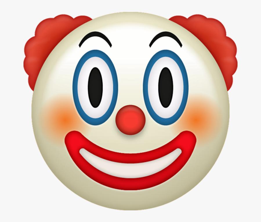 Clown Emoji [download Iphone Emojis] - Clown Emoji Png, Transparent Clipart