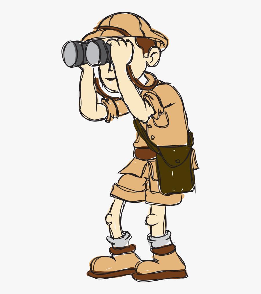 Transparent Workaholic Clipart - Explorer Cartoon , Free Transparent  Clipart - ClipartKey