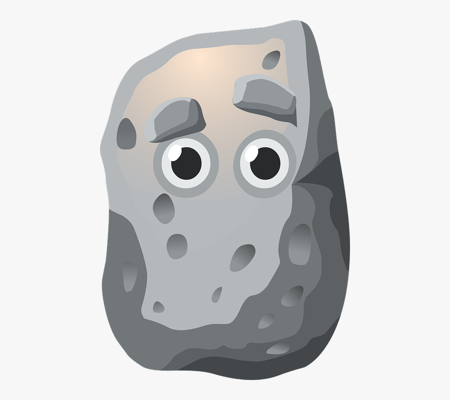 Animated With Face Clip - Pet Rock Clipart, Transparent Clipart