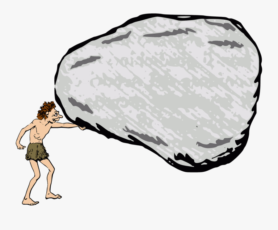 Transparent Rock Clip Art - Caveman Rock, Transparent Clipart