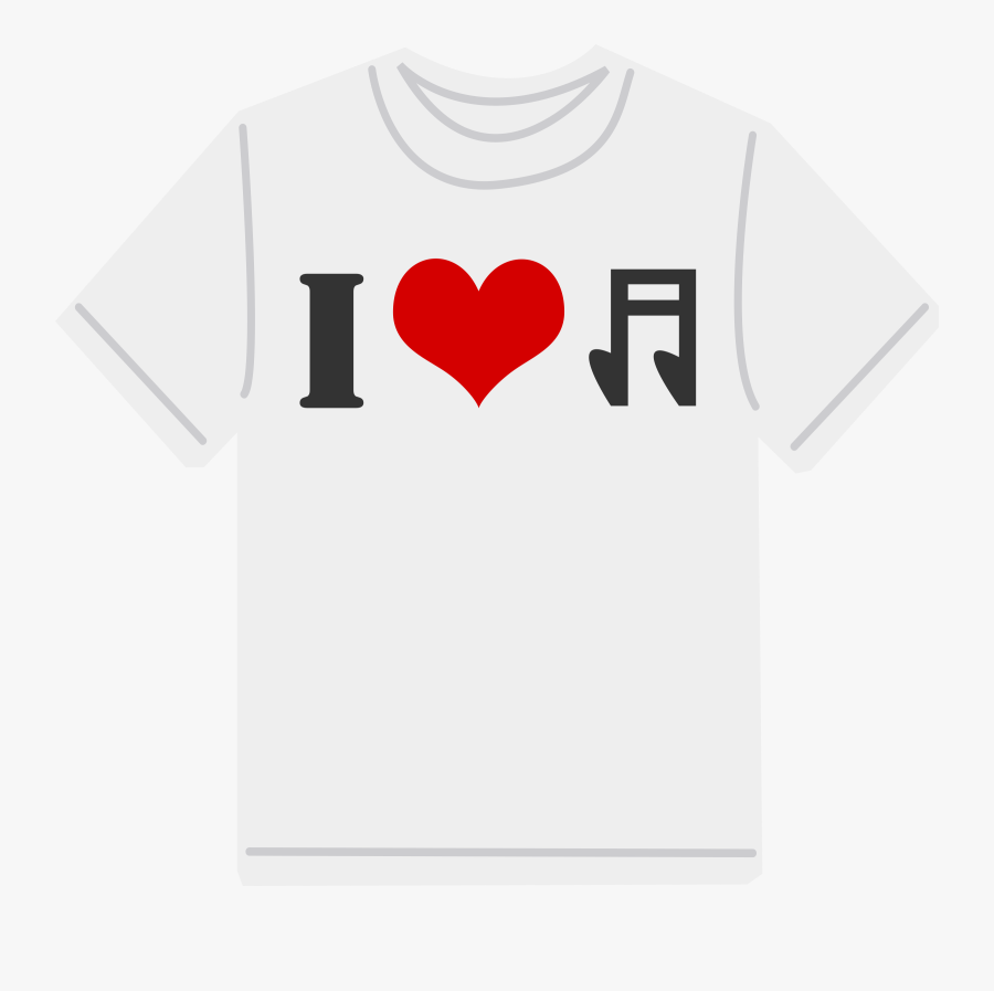 T-shirt Tshirt Clipart Cliparts And Others Art Inspiration - Love Music T Shirt, Transparent Clipart