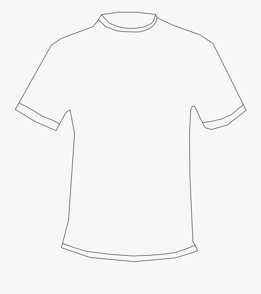 Transparent T-shirt Clipart - T Shirt Template No Background, Transparent Clipart