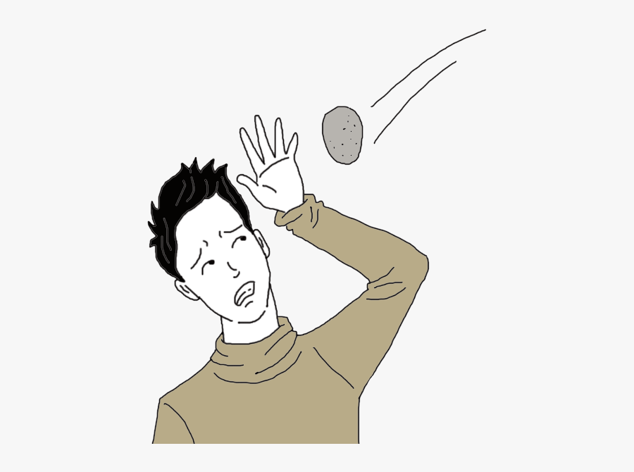 Rock Clipart Throwing Rocks - Rock Being Thrown, Transparent Clipart