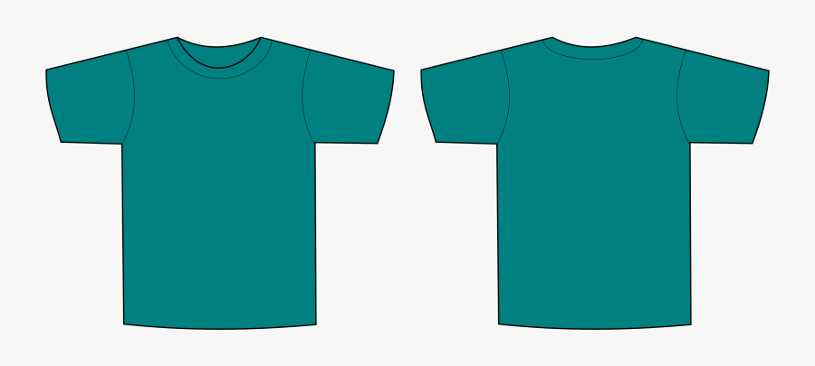 T-shirt - Blue Green T Shirt Template, Transparent Clipart