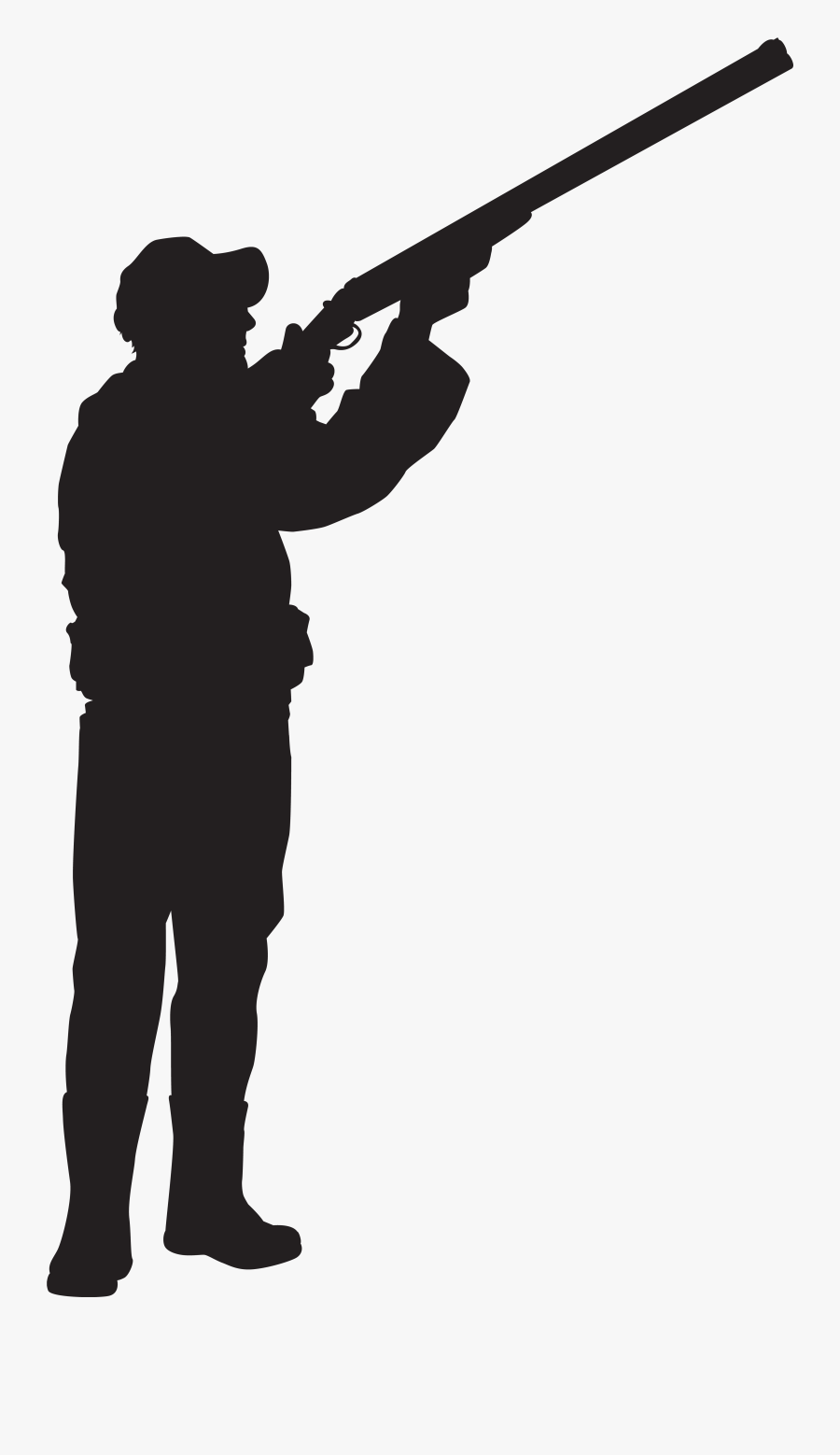 Silhouette Clip Art Hunter - Clay Pigeon Shooting Silhouette, Transparent Clipart