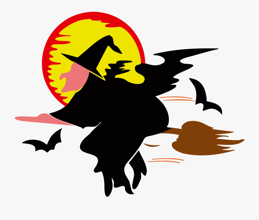 Witch Animated, Transparent Clipart